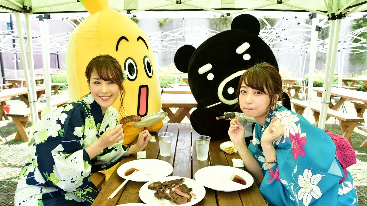 『パパパパラビ!』宇垣美里アナと鷲見玲奈アナが浴衣姿でお台場へ!前編