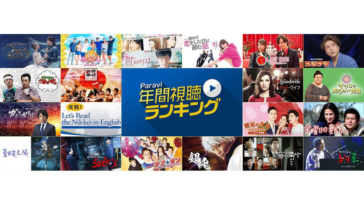 パラビ1周年企画!年間視聴ランキング発表