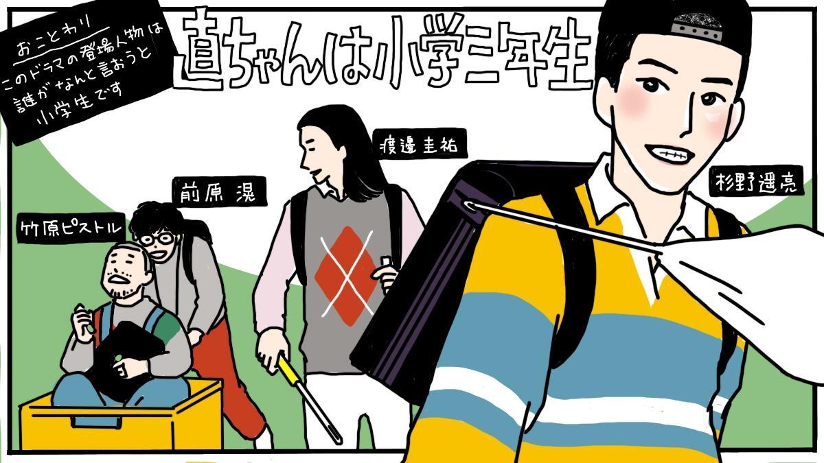 """『直ちゃんは小学三年生』杉野遥亮らが描く""""ちっちゃなモンスター""""たち"""